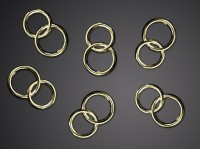 25 goldene Hochzeitsringe Streudeko