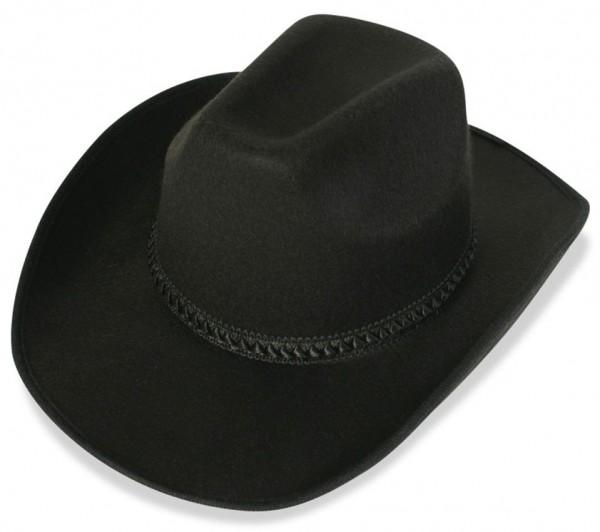 Schwarzer Cowboyhut Liam