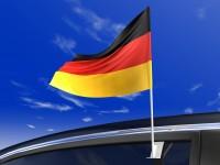 Deutschland Auto-Flagge Sanny 30x40cm
