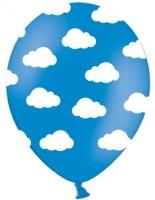 6 Little Plane Luftballons blau 30cm