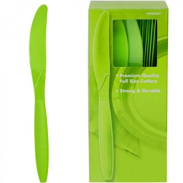 Kalkgrønt plastknivsæt 17cm