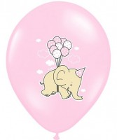 6 Girl Elephant Luftballons 30cm