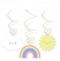 6 süße Wolkenwelt Spiralhänger