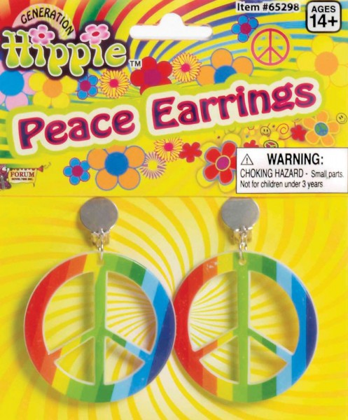 Peace Hippie Regenbogen Ohrringe