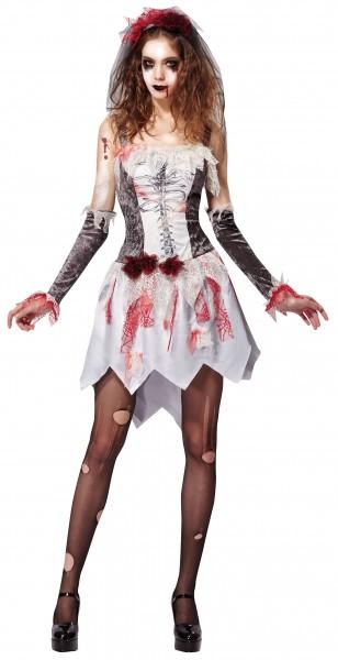 Rachsüchtiges Zombiebraut Alma Kostüm