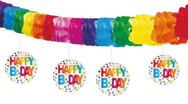 Guirnalda de colorines Happy Birthday 4m