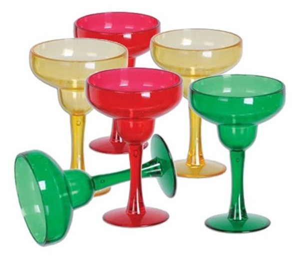 6 colorful margarita glasses Cuba 30ml