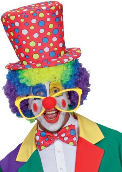 Kolorowe okulary nos klauna