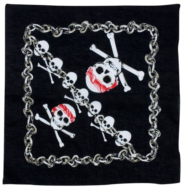 Foulard bandana crâne pirate
