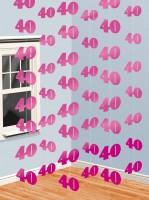 40th Celebration Hängedekoration Pink 210cm