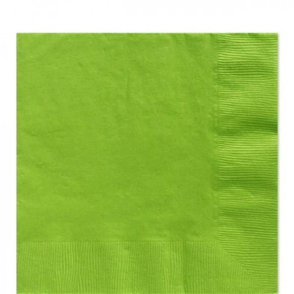 50 serviettes vert kiwi 33cm