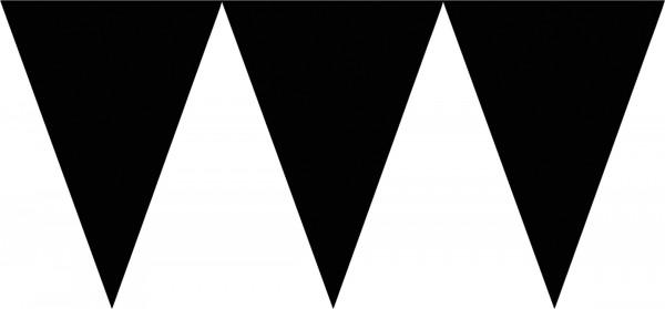 Elegante Wimpelkette Schwarz 4,5m