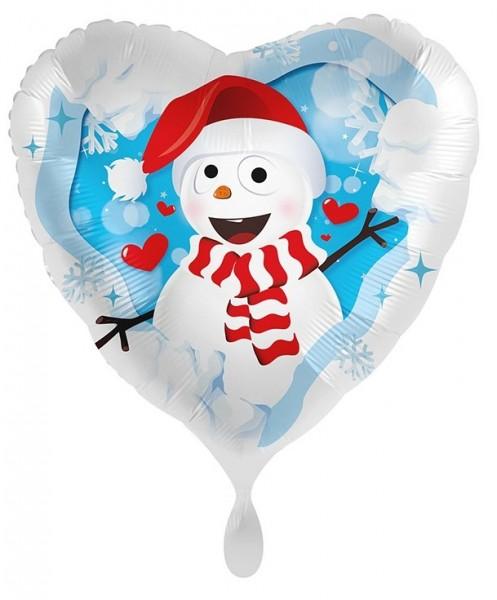 Joli ballon aluminium bonhomme de neige 71cm