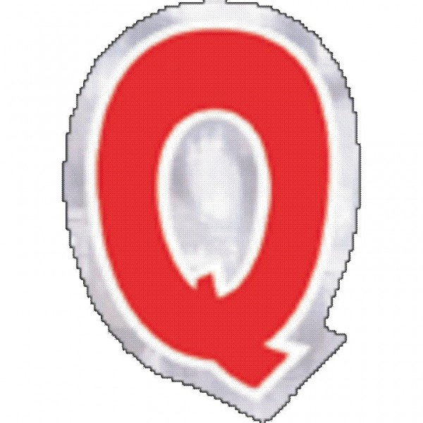 48 balloon stickers letter Q