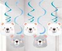 5 Partybär Spiralhänger