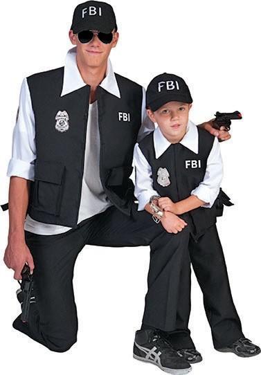 Costume pour homme d'agent spécial