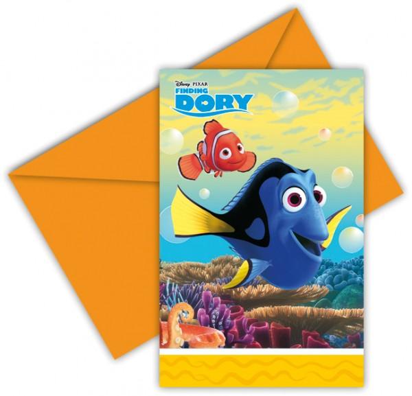 6 Findet Dorie Fischige Freunde Einladungskarten