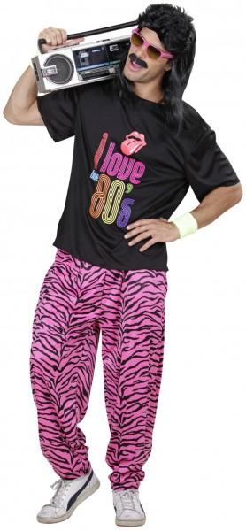 80s funky boy men's costume