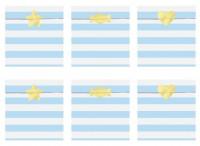 6 Candy Party Geschenktüten pastellblau