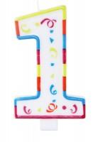 Große Geburtstagskerze Zahl 1 XL