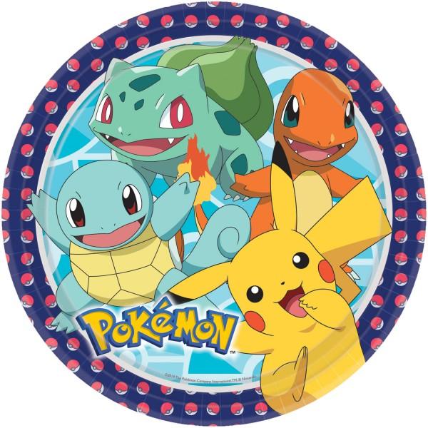 8 assiettes en papier Pokémon Master 23cm