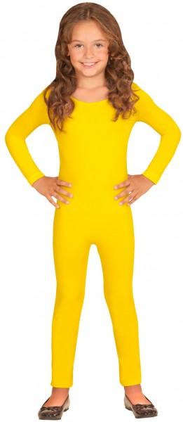 Body infantil de manga larga amarillo