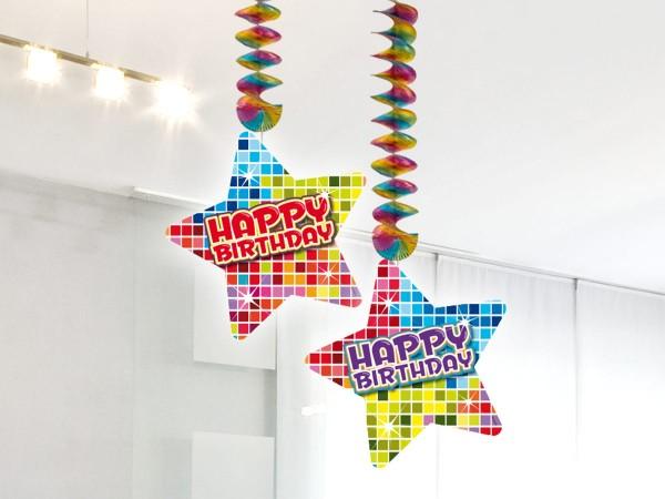 2 Spiral Dekohänger Happy Birthday Disco