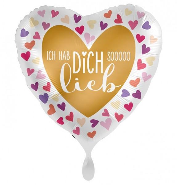 Ich hab dich so lieb Herz Folienballon 43cm