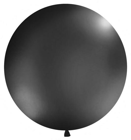 XXL Ballon Partygigant schwarz 1m