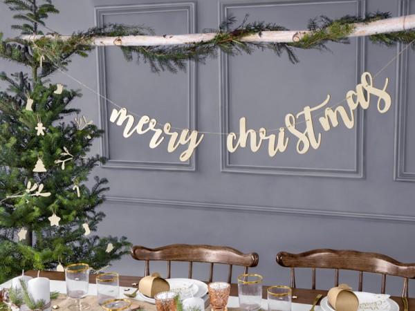 Guirnalda de madera Feliz Navidad 87cm