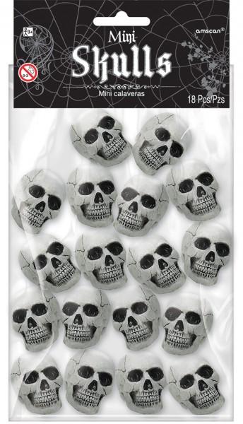 Mini Teschi Halloween Deco 18 pezzi