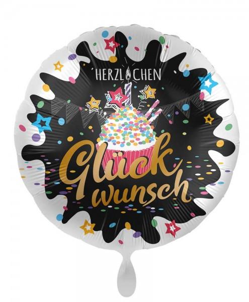 Geburtstags-Folienballon Cupcake 45cm