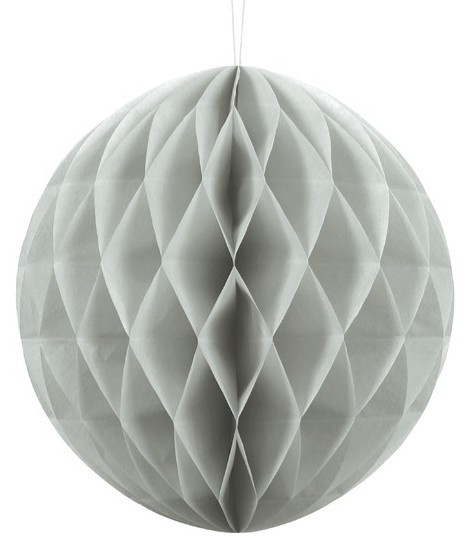Honeycomb ball Lumina light gray 30cm
