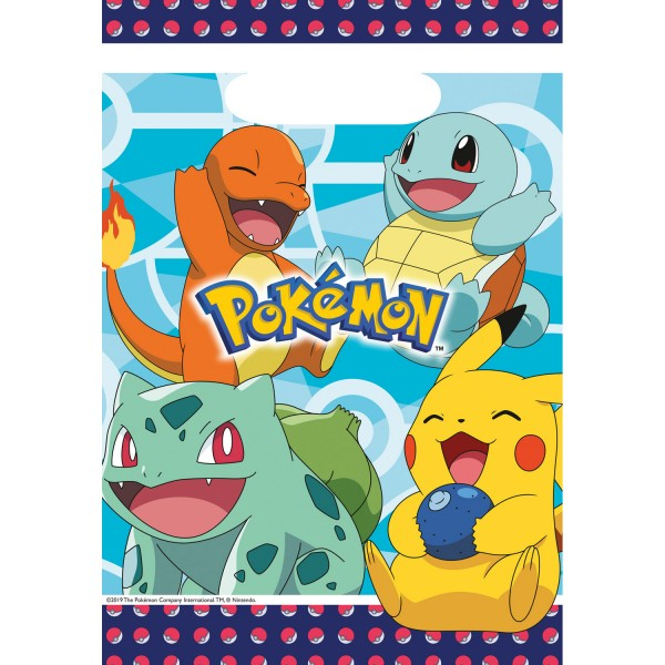 8 sacs cadeaux Pokémon Master