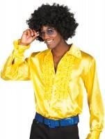 Gelbes Herren Rüschenhemd