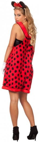 Pluche Ladybug Micki dames kostuum