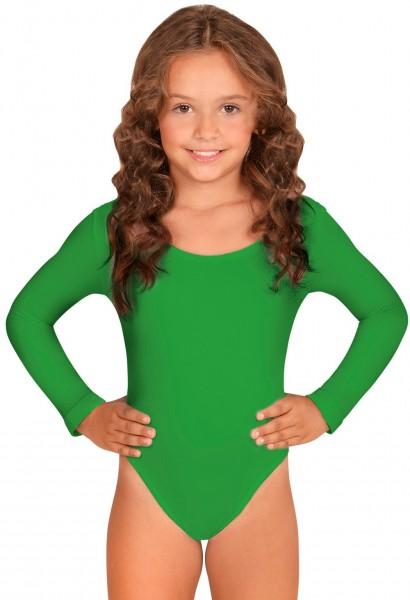 Body enfant classique vert