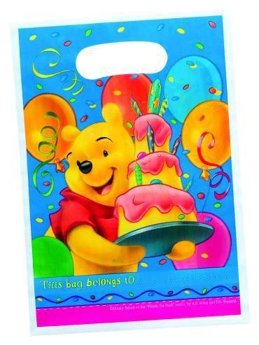 6 Birthday Winnie Puuh Geschenktüten
