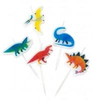 5 Dino Dschungel Tortenkerzen