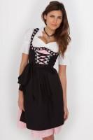 Liesel Midi Dirndl rosa-schwarz
