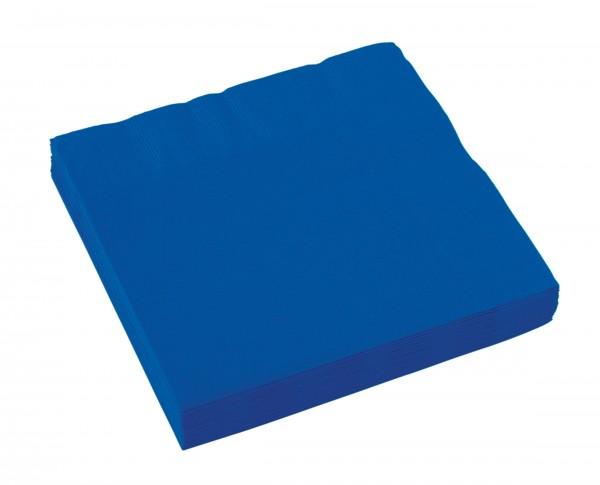 20 servilletas Amalia azul royal 33cm