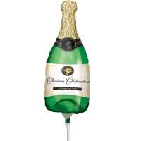 Champagnerflaschen Mini-Stabballon