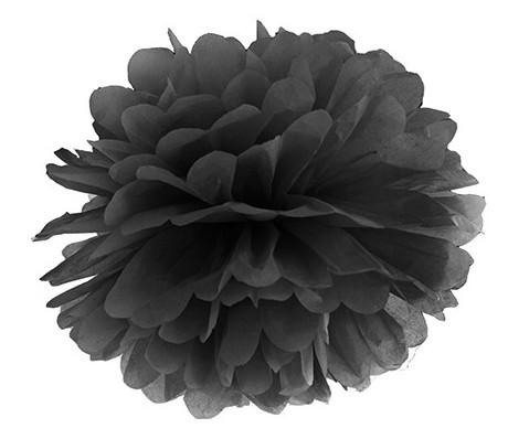 Pompon Romy schwarz 25cm