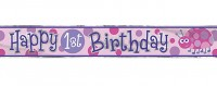 Erster Geburtstag Marienkäfer Banner 365cm