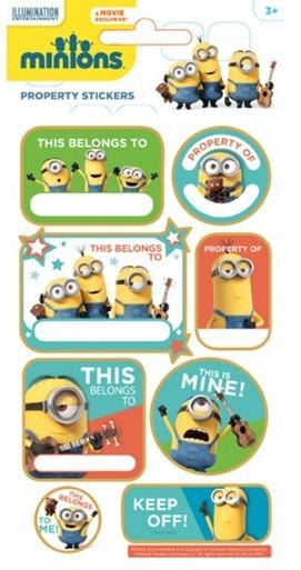 Minion Namen Etiketten Stickerbogen