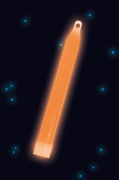 Power Glowstick Mit Kordel 15cm Orange