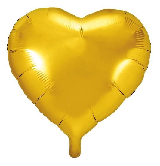 Palloncino a cuore oro 45 cm