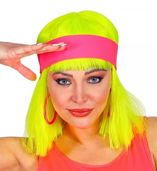 80er Neon Stirnband Kathy pink