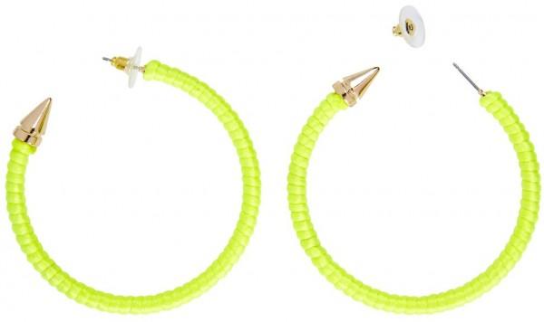 Neon Gelbe Creolen Ohrringe