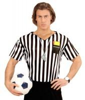 Gestreiftes Schiedsrichter Herrenshirt